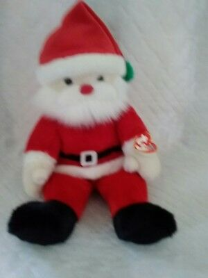 TY Beanie Buddy SANTA Jolly Elf Plush Bean Bag Christmas XMAS w tags