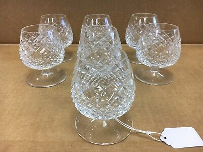 American Brilliant Cut Glass Cognac Glasses Vintage Set of 7 Matching 3.5""