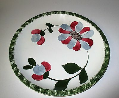 Vintage Blue Ridge Pottery Whirligig Dinner Plate Southern Potteries USA