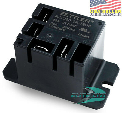 ZETTLER MINI POWER RELAY AZ2280-1A-12DF 30A Mini Power Relay 12VDC coil SPST-NO