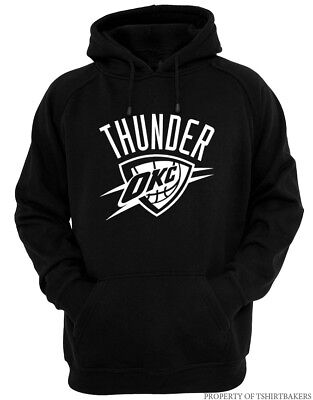 OKC - Black Hoodie Fan Oklahoma City Russell Thunder All Sizes S-2XL