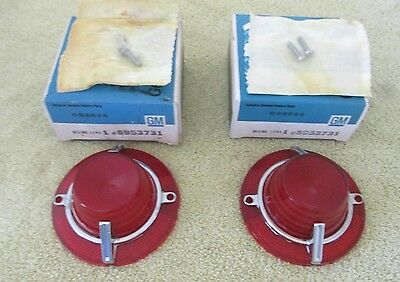 * NOS 1962 Chevy Impala SS Rear Tail Light Stop Lamp Lens Ornament GM 5953731