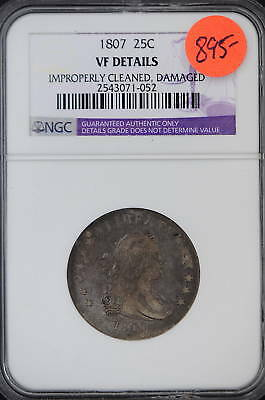 1807  NGC  VF Details  Draped Bust Quarter