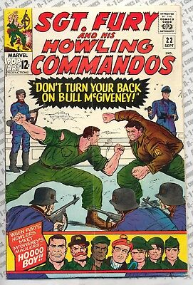 Sgt. Fury and His Howling Commandos #22 (1965) VG/F (5.0) ~ Marvel Comics