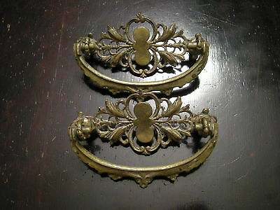 Two (2) Victorian / Eastlake Drawer Pulls / Fine Vintage Condition