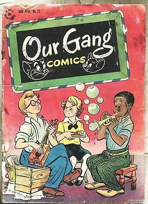 Our Gang Comics #22-1946 Walt Kelly Carl Barks ( Little Rascals ) Tom And Jerry