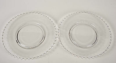 """Pair 2 Imperial Glass Candlewick  8 1/4"""" Salad Lunch Plates"""