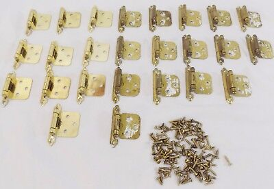 Amerock  Brass Color Self Closing Face Mount  Hinges- Lot of 25 Free ship!