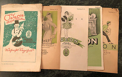 Five 1923 ODEON RECORDS catalog  suppliments    78rpm  nice illustrations
