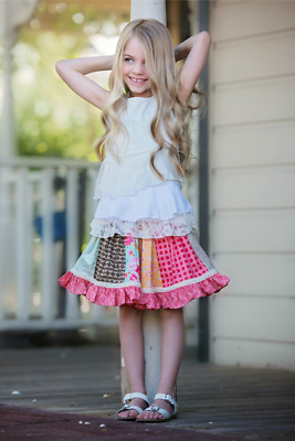 NWT Persnickety Pocket Full of Posies Star Shine Top Ivory Lace Girls sz 3 4