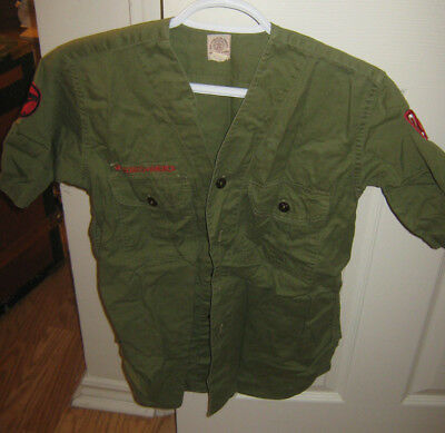 The Boy Scouts of America Official Shirt Troop Collarless Shirt Short Sleeved