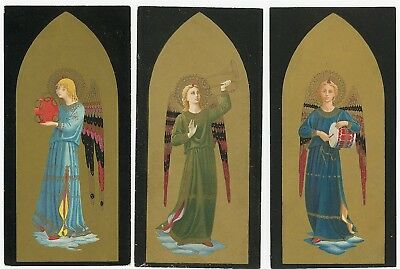 7 Fine Chromolithograph Angels Playing Instruments Fra Angelico a. Pini