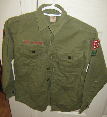 Boy Scouts of America Official Shirt BSA No Size, Long Sleeved Heavy Collared