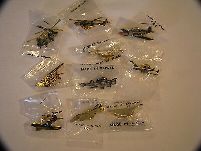 Lot Of Ten Military Aircraft Jets B2 Bomber Helicopters Lapel Pins