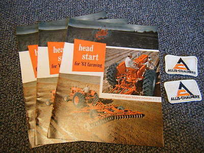 "Allis-Chalmers 1961 ""Head Start"" Promo Catalogs &  Patches Fresh From Old Stock"