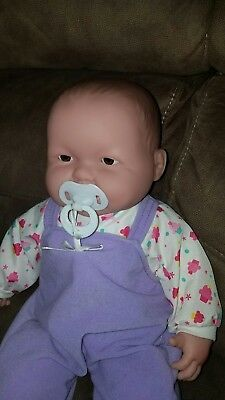 "Adorable 20"" Soft Cuddly Sweet Face Open Mouth Chubby Berenguer Baby Girl Doll"