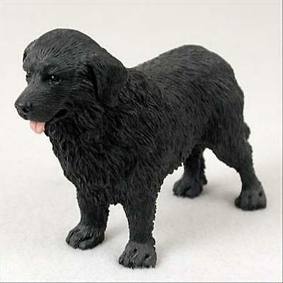 Newfoundland Dog Hand Painted Canine Collectable Figurine Statue