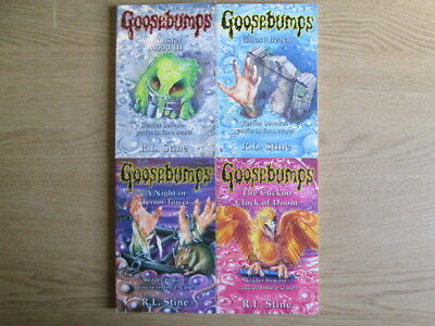 Books With Bite: 4 x Selection of R. L. Stine Goosebumps Paperback Books (Ghost
