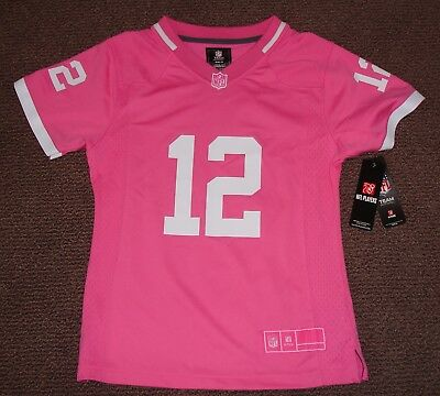 f76698896 New NFL Aaron Rodgers Green Bay Packers Girls Youth Pink Bubble Gum Jersey  L 14