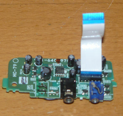 Headphone amp / mic board for Sony EV-S3000 Hi8 VCR - MC-79 1-640-975-12