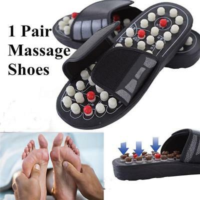 Unisex Acupuncture Pressure Point Massage Shoes Sandal Slippers Acupressure - L