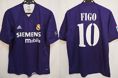 339cefdafb5 2001-2002 Real Madrid Centenary Jersey Shirt Camiseta Third Adidas Figo  10  L