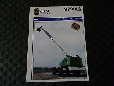 Grove Manlift Mz90Cx Self Propelled Aerial Work Platform Leaflet *as Pictures*