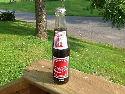 Vintage Coca Cola Glass Bottle Olympics 1980 New Old Stock