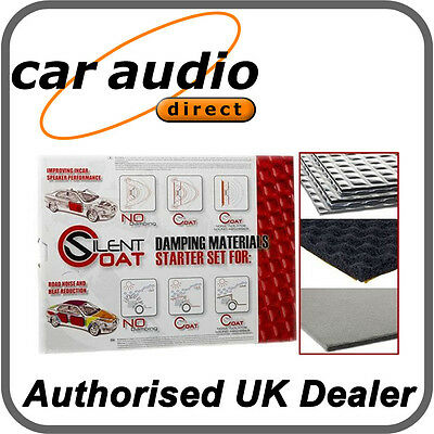 Silent Coat Starter Speaker Set Sound Deadening Kit Pack 4 Sheets