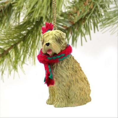 Soft Coated Wheaten Terrier Dog Tiny One Miniature Christmas Holiday ORNAMENT