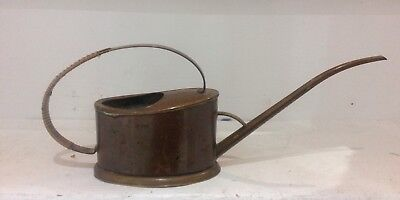 Vintage Mid Century Brass and Copper Watering Can Cacti Bonsai