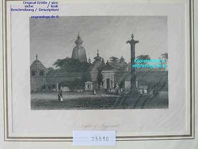 25530-Asien-Asia-Indien-India-Tempel of JUGGERNAUT-Stahlstich-Steel engraving
