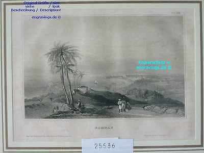 25536-Asien-Asia-Indien-India-BOMBAY-MUMBAI-Stahlstich-Steel engraving-1839