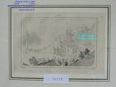 36573-Asien-Asia-China-YANG-TI-Chinese Junk--Stahlstich-Steel engraving-1837