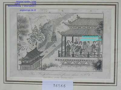 36566-Asien-Asia-China-YEOU-WANG_Reiter-Stahlstich-Steel engraving-1837