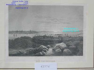 42776-Amerika-America-USA-United States-NEW YORK-Stahlstich-Steel engraving-1860
