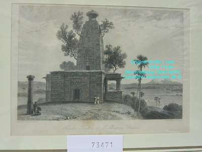 73471-Indien-India-Hindoo Tempel Muddunpore Bahar -Stahlstich-Steel engraving