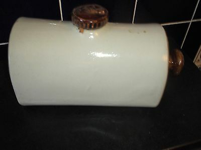 Vintage Collectable Stoneware Foot Warmer Oatmeal & Treacle Glaze Great Cond