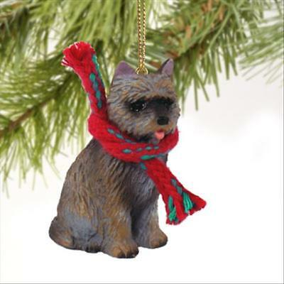 Cairn Terrier Brindle Dog Tiny One Miniature Christmas Holiday ORNAMENT