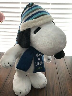 """NEW Peanuts SNOOPY PLUSH PORCH DOOR GREETER Give A Little Love 19"""" Charlie Brown"""