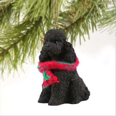 Poodle, Black, Sport Cut Dog Tiny One Miniature Christmas Holiday ORNAMENT