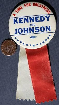 1960 John F. Kennedy for President A Time for Greatness pin-Indiana Issue JFK!