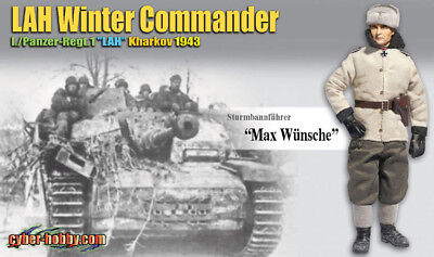 """Dragon Cyber Hobby 1//6 scale 12/"""" WWII German Tiger Ace Michael Wittmann 70370S"""
