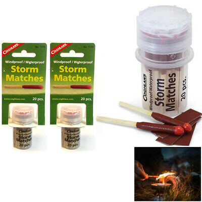 40 Pc Coghlans Storm Matches Windproof Waterproof Stormproof Survival Emergency