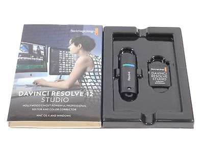 Davinci Resolve 12 Studio and Dongle 9, 10, 11, 12