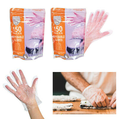 300 Disposable Gloves Plastic Cleaning Gardening Garden Home Medical Salon PE