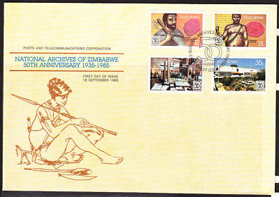 Zimbabwe 1985 National Archives LARGE First Day Cover