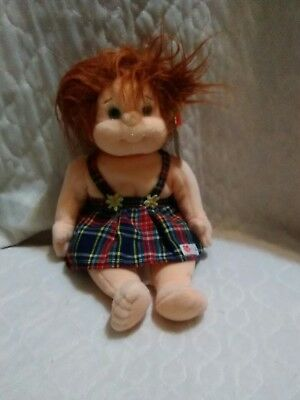 "TY BEANIE KIDS Ginger 10"" Girl Doll Original Outfit TUSH/ HANG Tags"