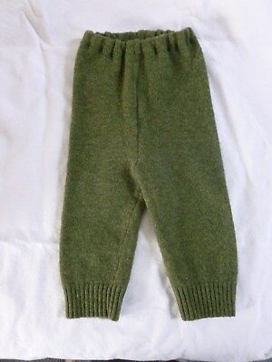 wool longies longie *NEW* diaper cover leggings pants green L