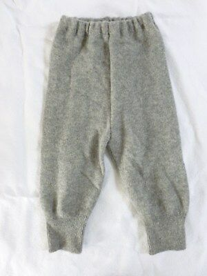 wool longies longie *NEW* diaper cover leggings pants gray L